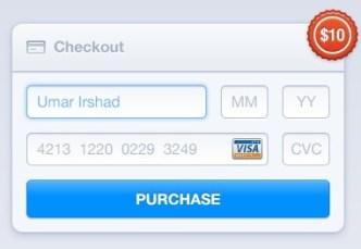Checkout Form Elements PSD