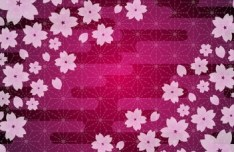Lovely Flower Background Vector 03