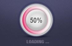 Pink Loading Progress Bar PSD