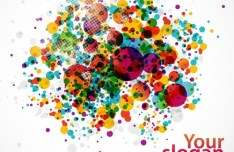 Vector Colored Bubbles Background 01