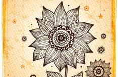 Vintage Hand Drawn Floral Frame Vector Illustration 04