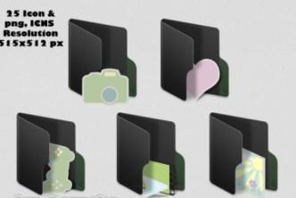 MacOS-Like Black Folder Icons