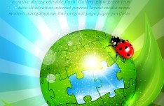 Vector Green Earth Concept Background 03