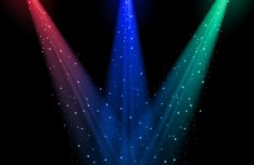 Colored Stage Spotlights Vector 01