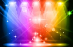 Colored Stage Spotlights Vector 02