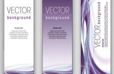Elegant Vertical Banner Background Vector 03