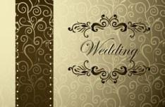 Noble and Elegant Invitation Card Cover Design Vector 02