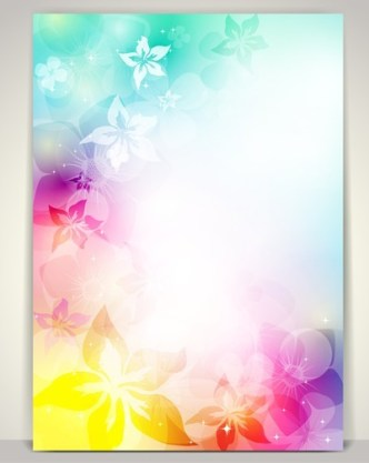 Beautiful Shining Floral Background Vector 04
