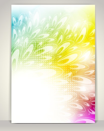Beautiful Shining Floral Background Vector 05