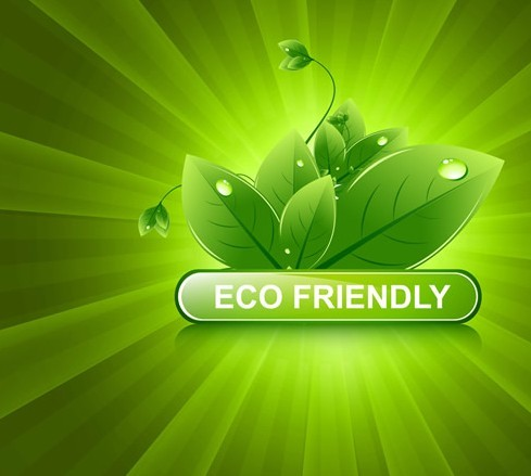 free eco friendly concept vector green leaves background 02 titanui. Black Bedroom Furniture Sets. Home Design Ideas