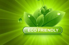 ECO Friendly Concept Vector Green Leaves Background 02