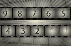 Film Reel Countdown Vector