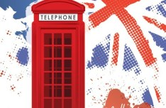 London Telephone Calling Vector Illuctration