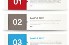 Clean Vector Banners With Numbers