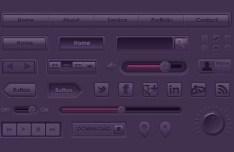 Purple Web UI Kit PSD