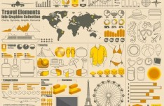 Vector Tourism & Travel Elements for Infographic 01