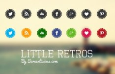 Little Retros Social Media Icons