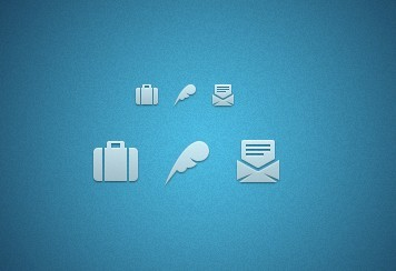 Clean Contact and About Icons PSD