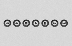 Dark Clean Audio Video Player Buttons (PSD+PNG)