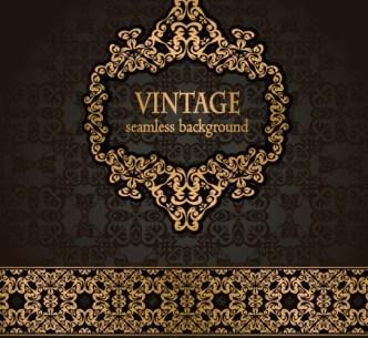 High Quality Vintage Floral Pattern Vector 08