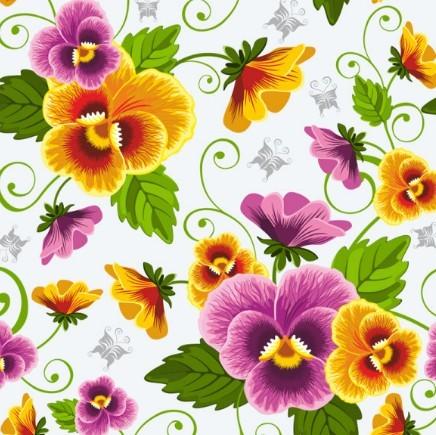 Retro Flowers Vector Illustration 04