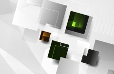 Vector Abstract Technology Background with 3D Squares 12