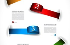 Colored Numeric Labels For Infographic 13