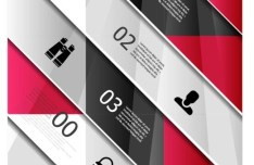 Colored Numeric Labels For Infographic 20