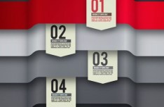 Colored Numeric Labels For Infographic 21