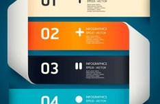 Colored Numeric Labels For Infographic 25