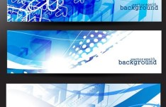 Set of Abstract Technology Vector Banners 01