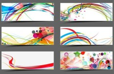 Set of Abstract Technology Vector Banners 04