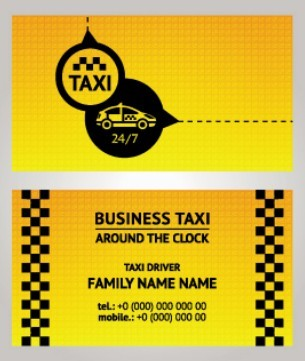 Vector Taxi Driver Business Card 05