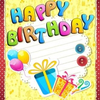 Cartoon Happy Birthday Elements Vector 02