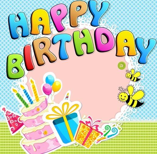 Cartoon Happy Birthday Elements Vector 05