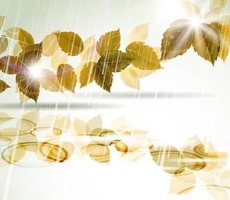 Elegant Leaves and Floral Background Vector 01