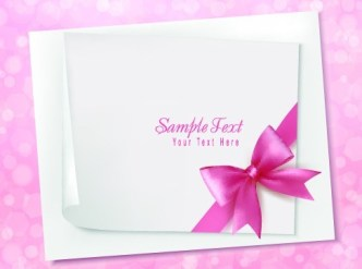 Greeting Card Blank Sheet For Text Vector 02