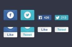 Social Media Slider Boxes PSD