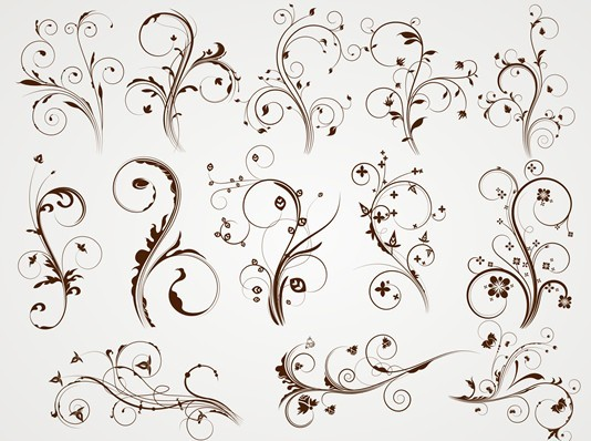 free vector elegant floral patterns 01 titanui