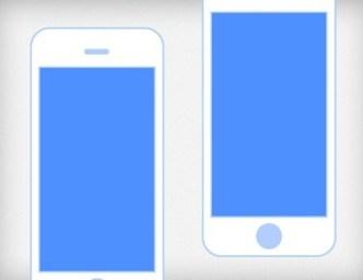 Flat iPhone 5 Mockup PSD
