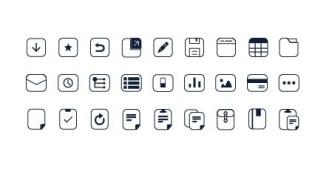 Simple Pixel Web Icon Set