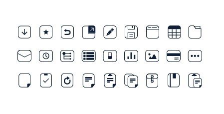 Simple Pixel Web Icon Set