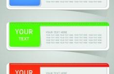 Colored Sticker Label Design Vector 04