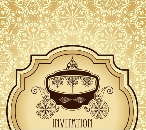Free vector vintage invitation cards with golden lace backgrounds 03 vector vintage invitation cards with golden lace backgrounds 03 stopboris Images