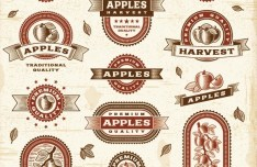 Vintage Premium Quality Apples Labels