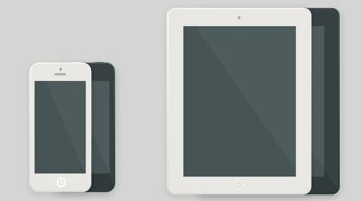 iPhone and iPad Flat PSD Mockups PSD
