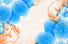 Colorful Spring Flowers Vector Illustration 01
