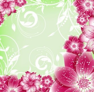 Colorful Spring Flowers Vector Illustration 02