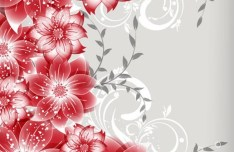 Colorful Spring Flowers Vector Illustration 03