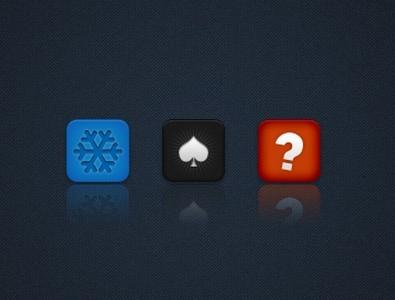 3 Sleek iOS Icons PSD